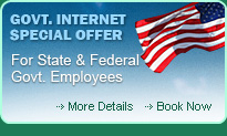 Government internet special rate for state and federal employee